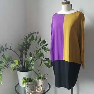Vintage Nicole Miller Color Block Dress